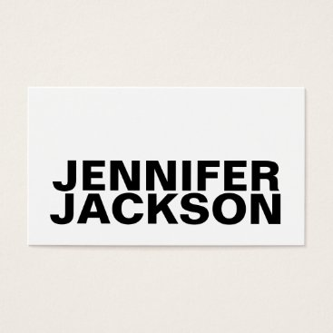 Professional Business Bold cool minimalist business card black and white