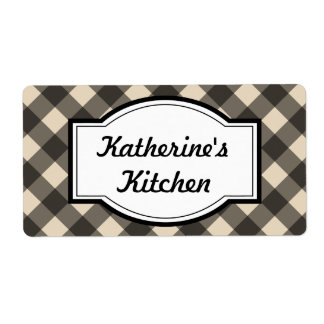 Bold Cream and Black Kitchen Labels