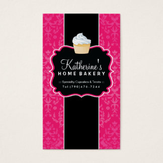 Bold Cupcake Bakery Business Card