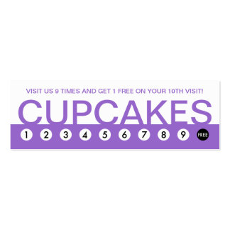 bold CUPCAKES customer loyalty Business Card Template