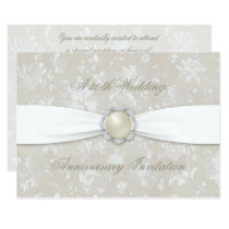 Bold Damask 30 Wedding Anniversary 4.5x6.25 Invite