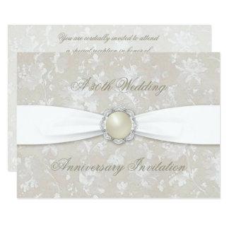 Bold Damask 30 Wedding Anniversary 4.5x6.25 Invite