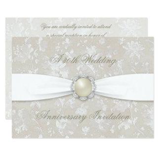 Bold Damask 30th Wedding Anniversary 5x7 Invite