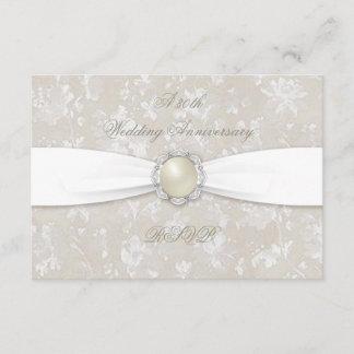 Bold Damask 30th Wedding Anniversary RSVP
