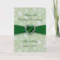 Bold Damask 55th Wedding Anniversary Card