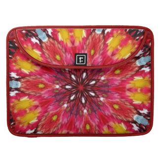 Bold Daring Flame Kaleidoscope Sleeve For MacBooks