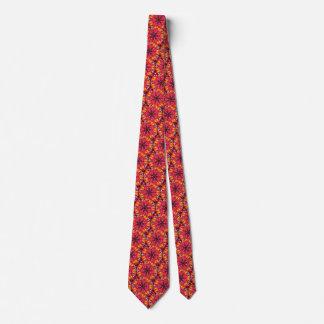 Bold Daring Flame Kaleidoscope Neck Tie