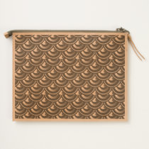 Bold Deco Spiked Mermaid Scales Clutch