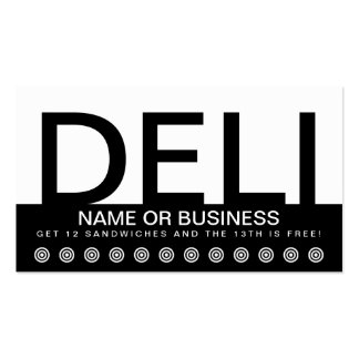 bold DELI customer loyalty card Double-Sided Standard Business Cards (Pack Of 100)