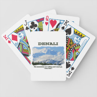 Bold Denali / The mountains are calling…J Muir Bicycle Playing Cards