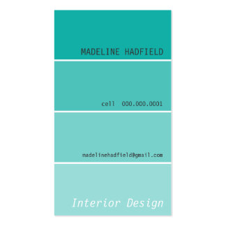 BOLD DESIGN paint swatch painter jade Double-Sided Standard Business Cards (Pack Of 100)