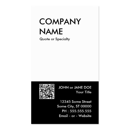 bold design your own QR code Business Card Template