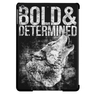 Bold & Determined Wolf iPad Air case