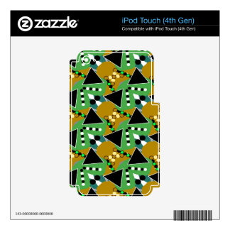 Bold Digi-crazed iPod Touch 4G Decal