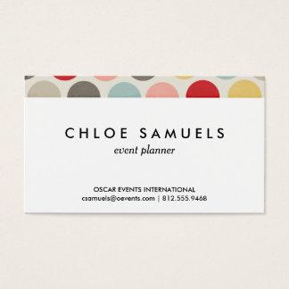 Bold Dot Colorful Pastel Circles Polka Dot Print Business Card