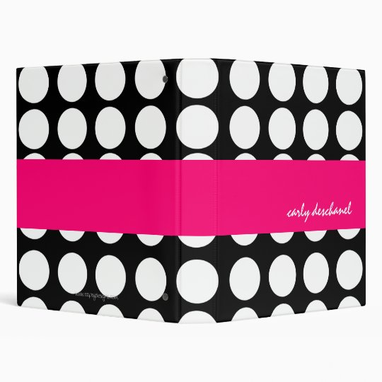 BOLD DOTS PERSONALIZED BINDER