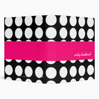 BOLD DOTS PERSONALIZED BINDERS