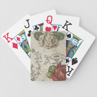 BOLD, easy to see playing cards. Rose design Bicycle Playing Cards
