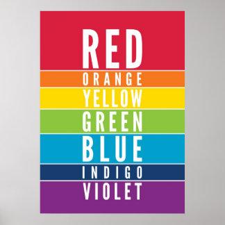 BOLD EDUCATIONAL CLASSROOM rainbow color art chart