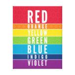 BOLD EDUCATIONAL CLASSROOM rainbow color art chart Canvas Print
