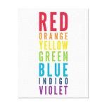 BOLD EDUCATIONAL CLASSROOM rainbow color chart Canvas Print