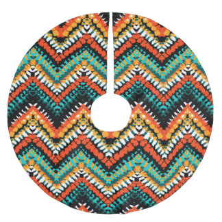 Bold Ethnic Native Tribal Pattern Brushed Polyester Tree Skirt