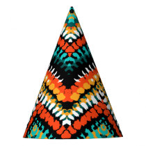 Bold Ethnic Native Tribal Pattern Party Hat