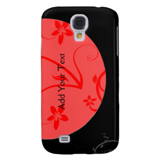 Bold Expressions in Red and Black Galaxy S4 Case