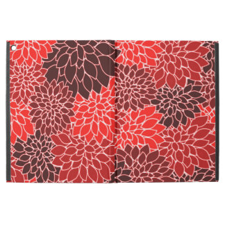 Bold Expressions Red Dahlia Flower Pattern iPad Pro Case