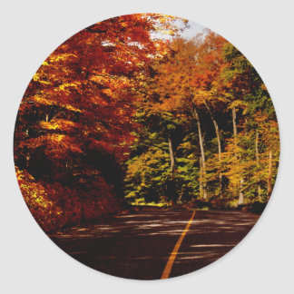 Bold Fall Colours on St Joseph Island Classic Round Sticker