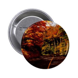 Bold Fall Colours on St Joseph Island Pinback Button