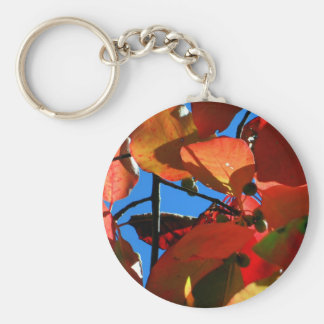 Bold Fall Leaves Basic Round Button Keychain