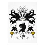 Bold Family Crest Custom Announcements