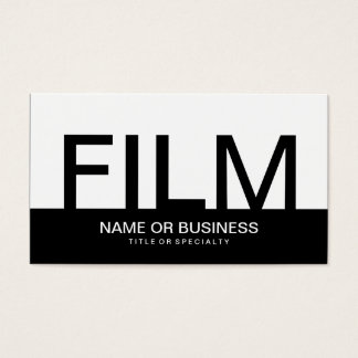 bold FILM Business Card