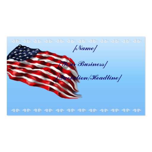 Bold Flag profile card_business_horizontal, Double-Sided Standard Business Cards (Pack Of 100)