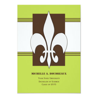 Bold Fleur de Lis and Stripes Card