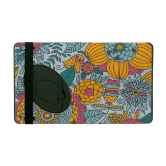 Bold Floral and Vines iPad Cover