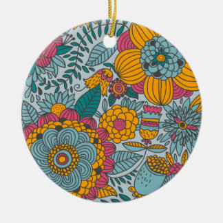 Bold Floral and Vines Ornaments
