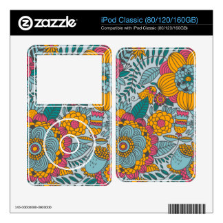 Bold Floral and Vines Skin For iPod