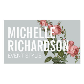 Bold Floral I Event Planner Business Card