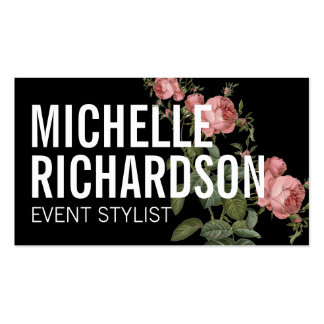 Bold Floral II Event Planner Business Card