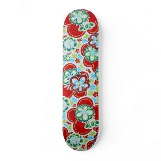 Bold Floral design Skateboard