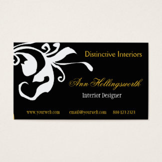 Bold Flower Summer  Spring Daylily Floral Business Card