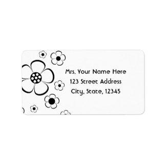 Bold Flowers Address Lables Address Label