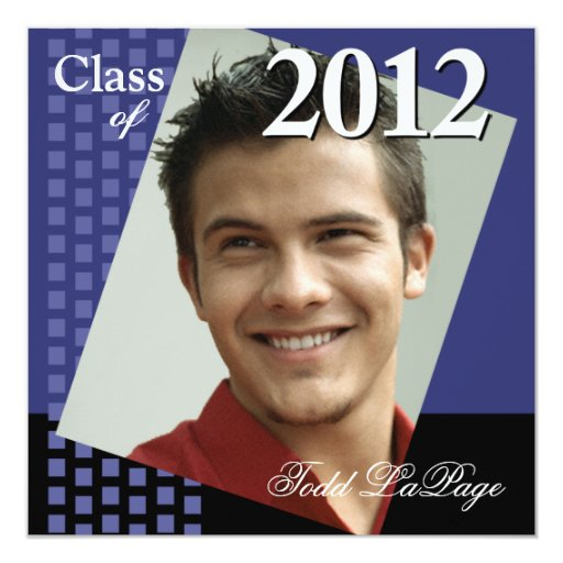 Bold Fresh Class of 2012 Grad Photo Party Custom Invite