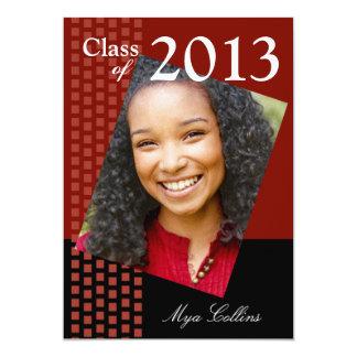 Bold Fresh Class of 2013 Grad Photo Party 5x7 Paper Invitation Card