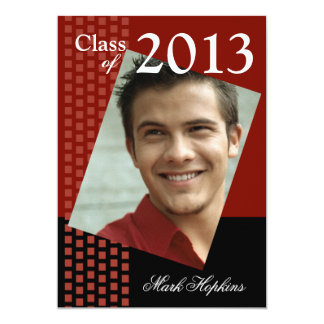 Bold Fresh Class of 2013 Grad Photo Party Card