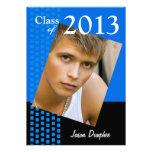 Bold Fresh Class of 2013 Grad Photo Party Custom Invitations