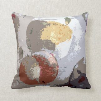 Bold Fruit Abstract #4 Throw Pillow