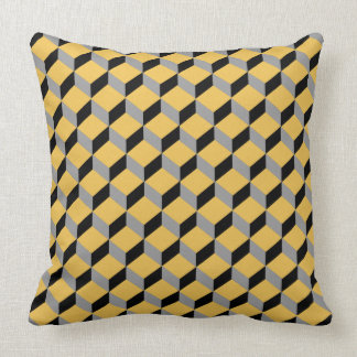Bold Funky Optical Illusion Modern Patterned Throw Pillow